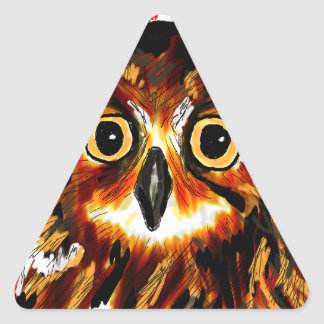 Owl first assistance triangle sticker