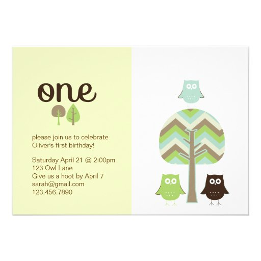 Owl First Birthday Invitations is an amazing ideas you had to choose for invitation design