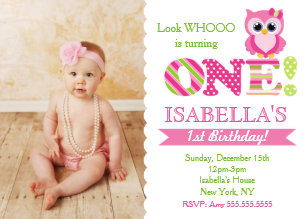 Owl 1st birthday invitations zazzle owl first birthday invitations filmwisefo