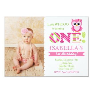 Owl first birthday invitations announcements zazzle owl first birthday party invitations stopboris Choice Image