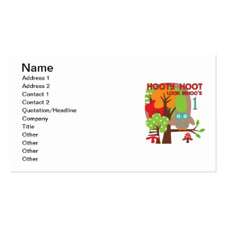 Owl First Birthday T-shirts and Gifts Business Card Template