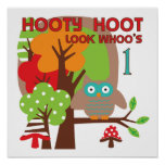 Owl First Birthday T-shirts and Gifts Posters