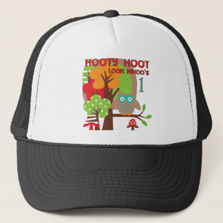 Owl First Birthday T-shirts and Gifts Trucker Hat