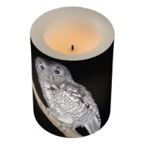 Owl Flameless Candle
