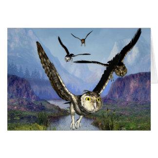 Owl Flight card