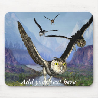 Owl Flight mouse pad