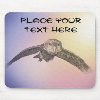 owl flight mousepad
