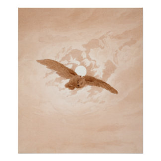 Owl Flying against a Moonlit Sky Caspar Friedrich Poster