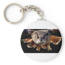 Owl Flying At Night Keychain