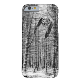 Owl flying in the woods barely there iPhone 6 case