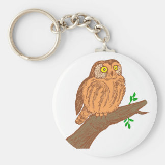 Owl fogy sawing fogy Saw whet owl Key Chains