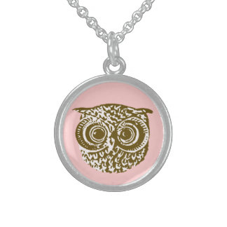 Owl for women sterling silver necklace