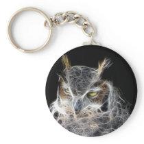 owl fractal design keychain
