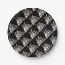 owl fractal design paper plate
