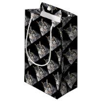 owl fractal design small gift bag