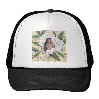 Owl French Trucker Hat