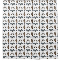 Owl Frenzy Shower Curtain (choose colour)