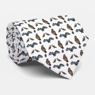Owl Frenzy Tie Double Sided Print (choose colour)