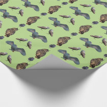 Owl Frenzy Wrapping Paper (Light Green)