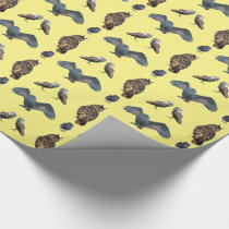 Owl Frenzy Wrapping Paper (Yellow)