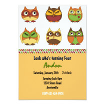 Owl Friends Invitation