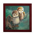 Owl Friends Owl Art Jewelry Box