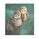 Owl Friends Owl Art Memo Note Pad