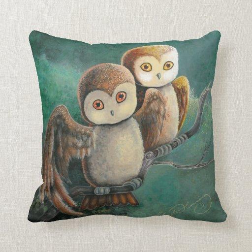 Owl Friends Owl Art Pillows