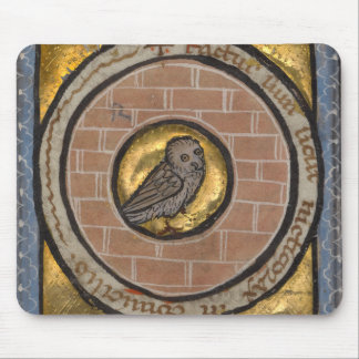 Owl from a Medieval Manuscript Mouse Pad
