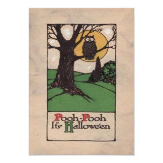 Owl Full Moon Tree Night Card