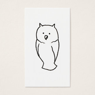 Owl - Fun cute totem line drawing art CUSTOMIZE IT Business Card