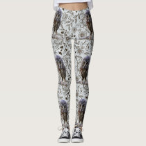Owl Fun Floral Leggings