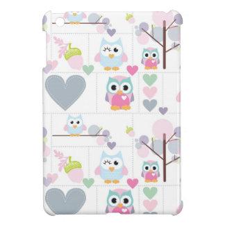Owl Gals, Hearts & Acorns Mini iPad Case