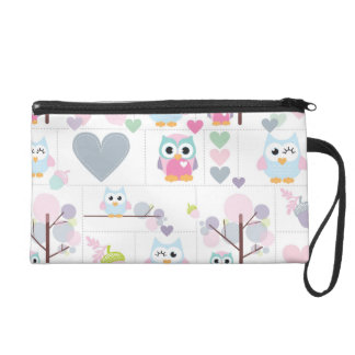 Owl Gals, Hearts & Winks Wristlet