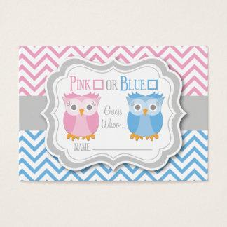 Owl Gender Reveal Voting Card