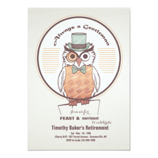 Owl Gentleman Invitation