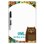 OWL Get Back to You Dry-Erase Board