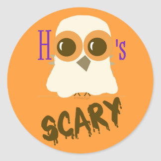 Owl Ghost Halloween Stickers Party Favors for Kids