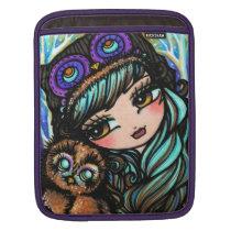 Owl Girl Comic Art iPad Sleeve by Hannah Lynn