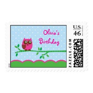 Owl Girl Postage stamp