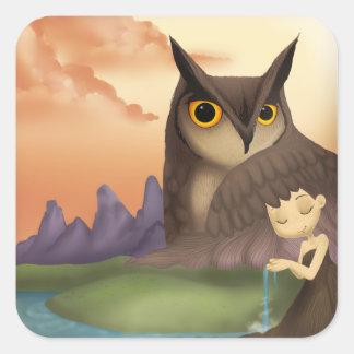 Owl & Girl Stickers