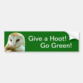Owl Give Hoot Bumper Sticker