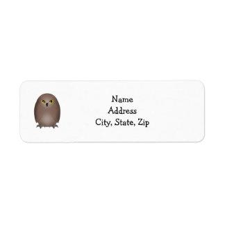Owl glare cute return address label
