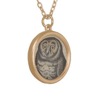 Owl Gold Plated Necklace