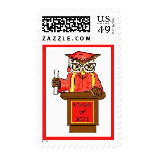 Owl Graduation Class of 2011 Stamp