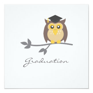 Owl Graduation Invitation Announcement