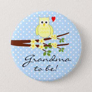 Owl Grandma to be- Button