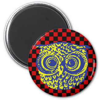 owl graphic . bird magnet