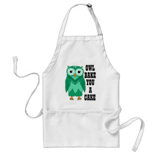Owl Green Adult Apron