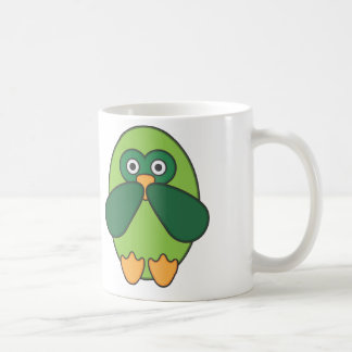 Owl greenness sulks coffee mug